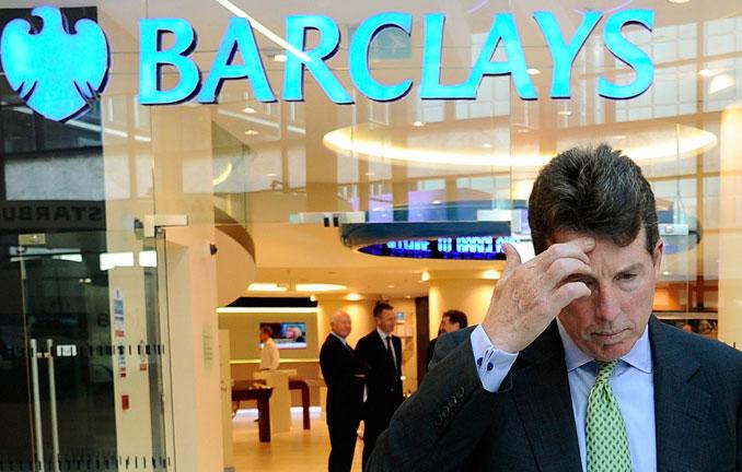 В Британском инвестиционном банке Barclays резкого упали прибыли