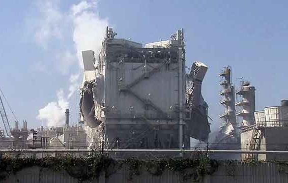 На нефтеперерабатывающем заводе в Калифорнии произошел мощный взрыв