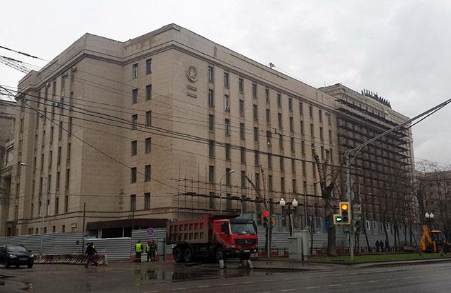 В центре Москвы горело здание Минобороны России