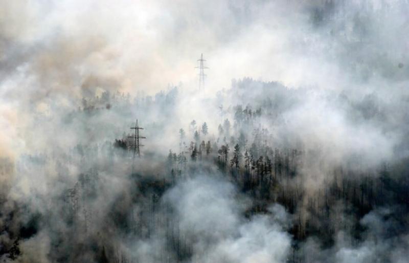 В Забайкалье массовые пожары: дым от огня видно над США и Канадой