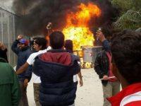 На острове Лесбос взбунтовались мигранты (видео)