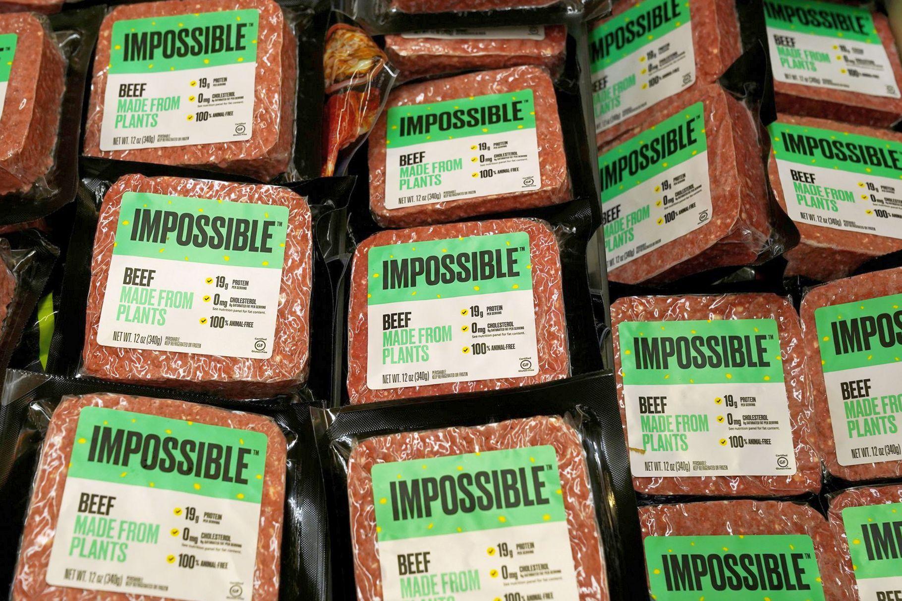 Свинина на растительной основе со вкусом мяса представлена Impossible Foods
