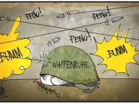 Немецкие карикатуристы о перемирии на Донбассе