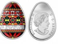 Канада выпустит первую в истории яйцевидную монету в форме украинской писанки