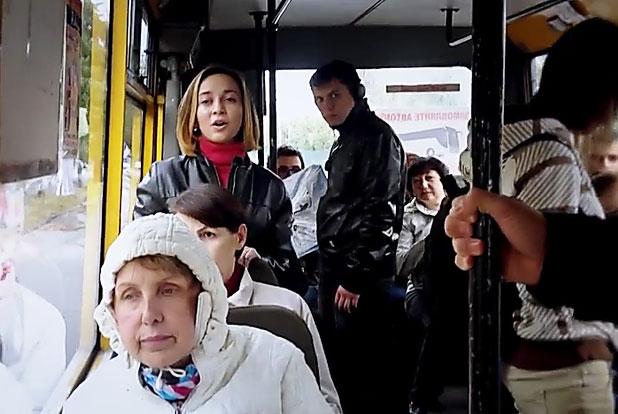Одесситы начали необычный флешмоб в городских маршрутках