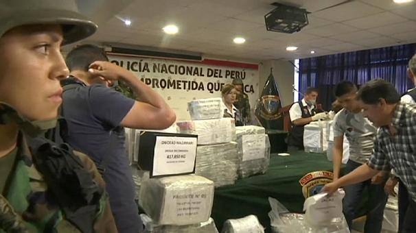 В Перу перехватили 1,5 тонны кокаина (видео)
