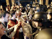 Погромы и столкновения в Скопье (видео)
