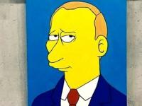С московской выставки похитили портрет Путина в стиле Симпсонов