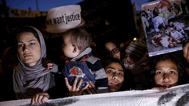 В Афинах протестуют мигранты, которые не хотят возвращаться в Турцию