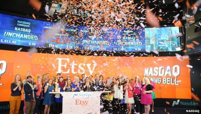 Акции Etsy выросли на 88 % с момента дебюта компании