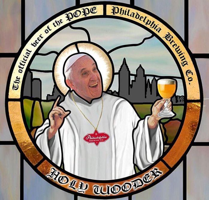 Philadelphia beer выпустила пиво Holy Wooder с Римским Папой Франциском на этикетке