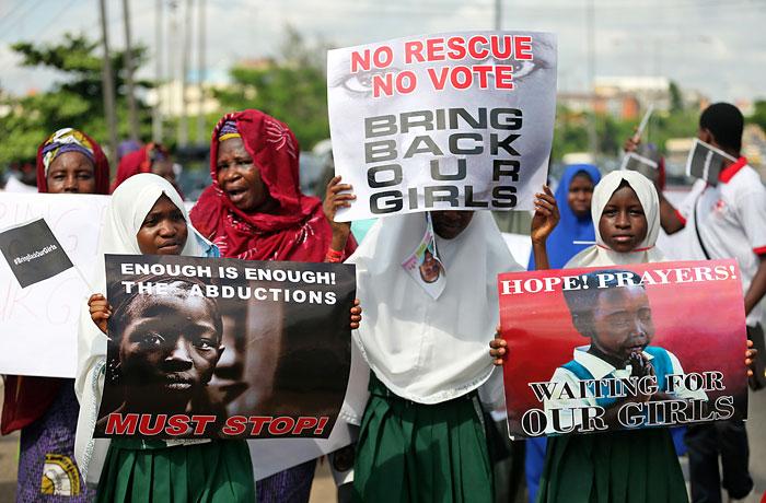 Шествия с целью привлечь внимание общественности к похищениям в Чибоке