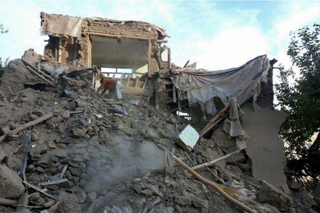 В Афганистане произошло сильное землятресение