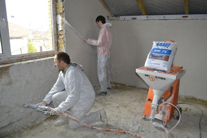 Бизнес идея: механизированная шпаклевка стен
