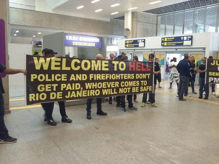 полиция, забастовка, Рио-де-Жанейро, Рио
