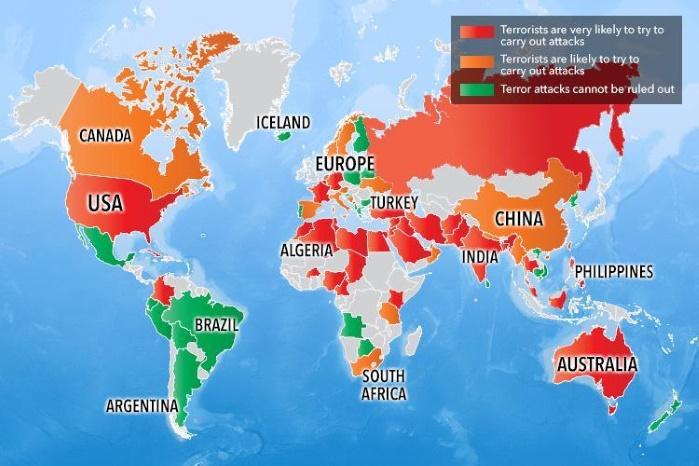 Британия внесла Украину в топ-10 стран с высоким риском терактов