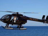 Британская топ-модель 43-летняя Кейт Мосс показала грудь с вертолета