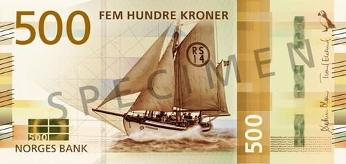 Центральный банк Норвегии впервые выпустил банкноты без портретов выдающихся личностей