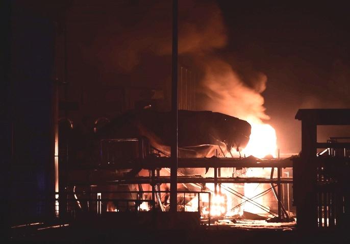 31 августа ночью в Китае на химзаводе прогремел взрыв (видео)