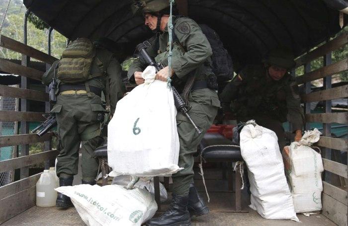 На границе Колумбии и Панамы полиция обнаружила 8 тонн кокаина