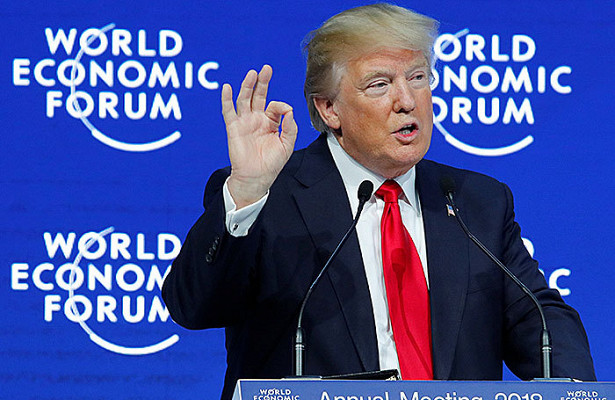 7 главных тезисов в выступлении Трампа на Всемирном экономическом форуме