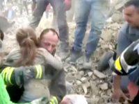 В Италии спасли ребенка, находившегося под завалами 17 часов (видео)