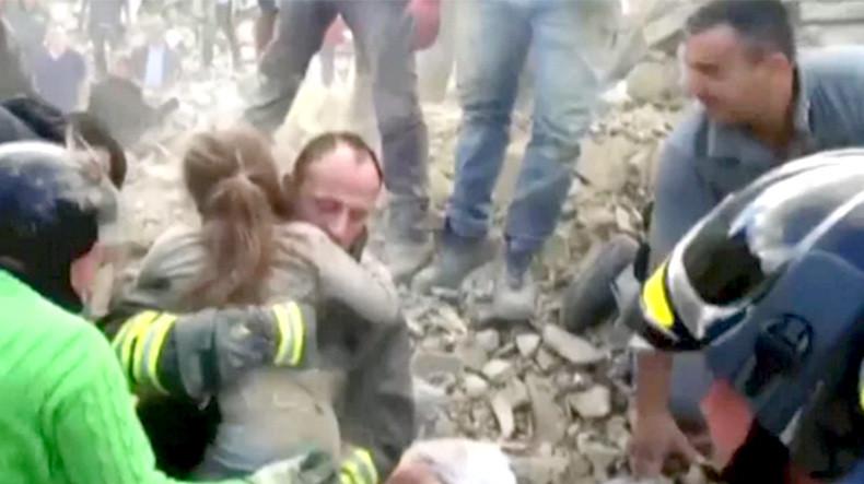 В Италии спасли ребенка, находившегося под завалами 17 часов