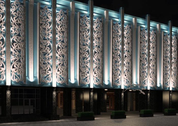 Бизнес идея: подсветка фасадов зданий