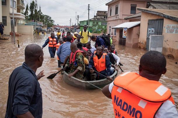 Потоп в Гане: в Аккре погибли несколько человек