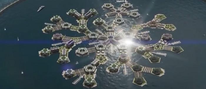 Голландские инженеры тестируют искусственный плавающий остров
