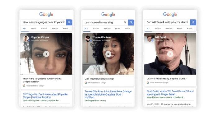 Google: знаменитые люди начали отвечают на запросы пользователей в поисковике