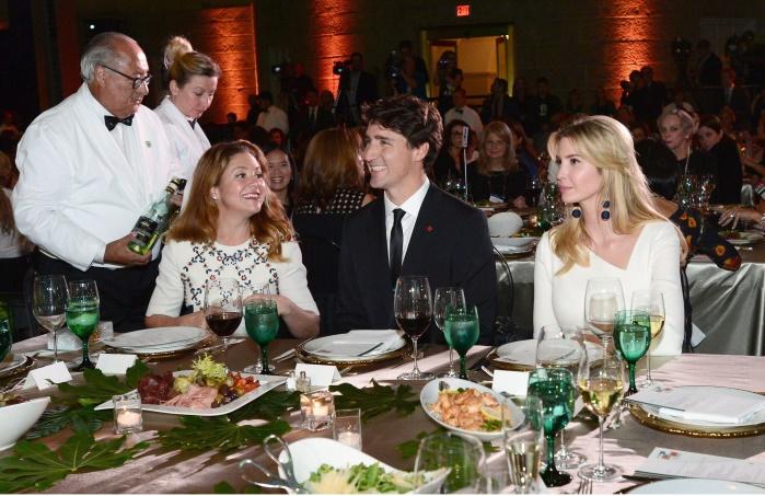 Иванка Трамп и Джастин Трюдо встретились на вечере самых влиятельных женщин