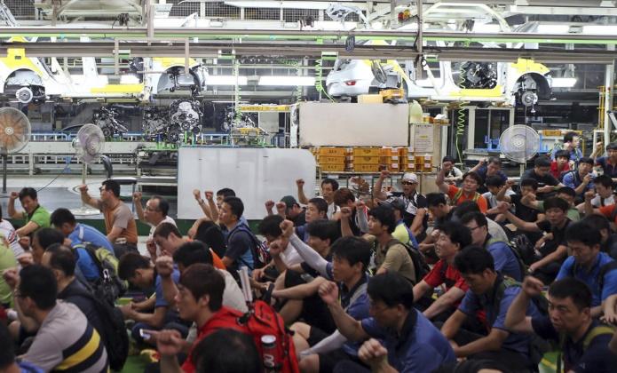 Из-за забастовок Южная Корея значительно снизила экспорт автомобилей