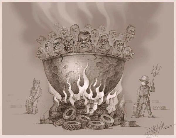 Сенатор России Валентина Петренко заставила гореть в аду Януковича, Азарова, Пшонку, Добкина, Кернеса (фото)