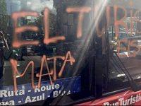 Каталонцы напали на туристический автобус
