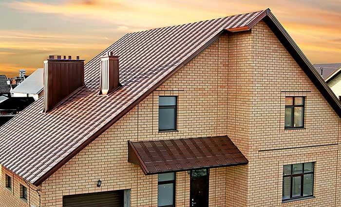 Металлочерепица для частного дома: достоинства и характеристики