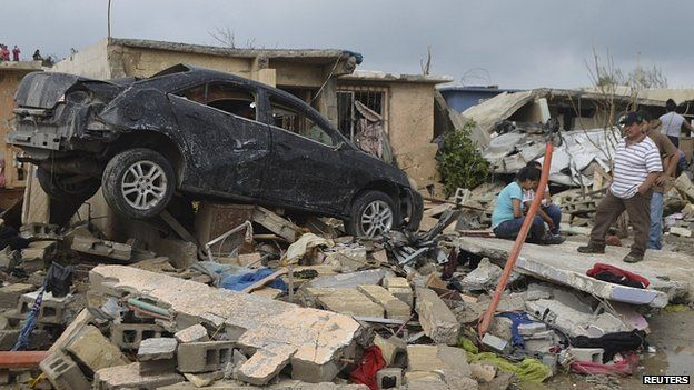 Невиданный торнадо опустошил северные границы Мексики