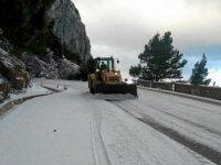 На испанском курорте Майорка снизилась температура и выпал снег