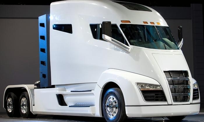Nikola One: представлен грузовик, работающий на водороде (фото, видео)