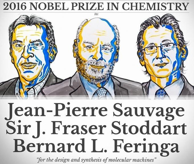 Нобелевская премия - 2016: лауреатами по химии стали Жан-Пьер Соваж, Фрэйзер Стоддарт и Бернард Феринга