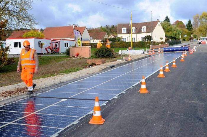 Ноу-хау Франции:  асфальт заменят на солнечные батареи
