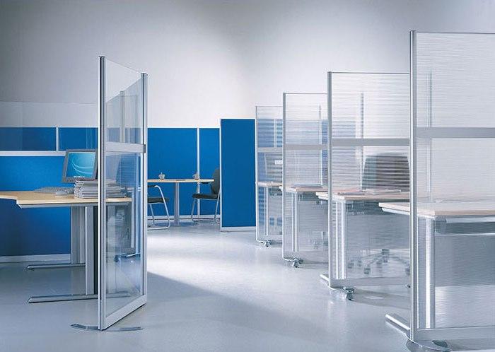 Офисные перегородки из различных материалов: основные особенности
