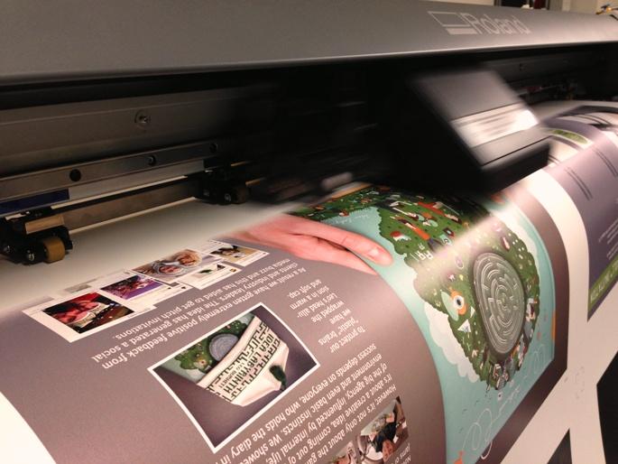 Бизнес идея: широкоформатная интерьерная печать