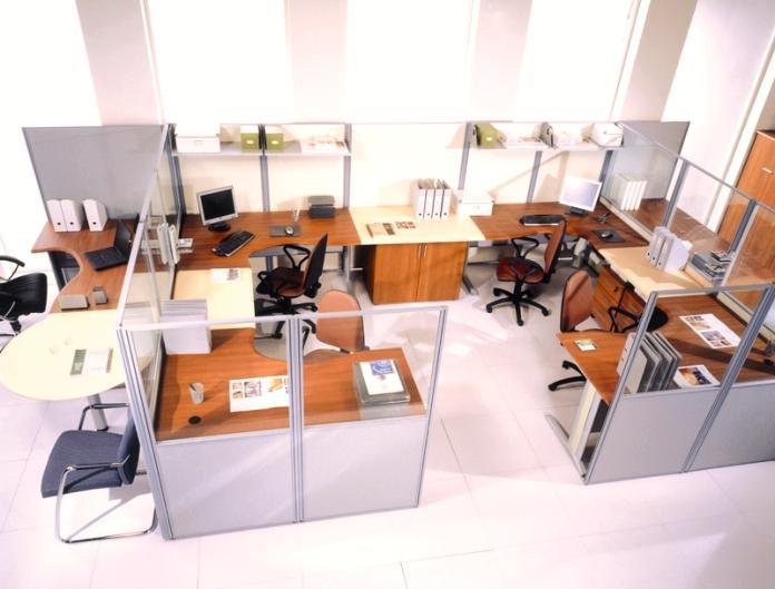 Офисные перегородки и их разновидности