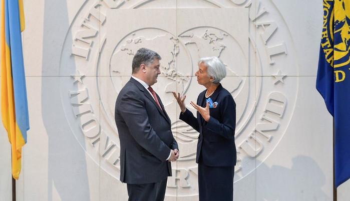 Петр Порошенко встретится с главной МВФ для обсуждения следующего транша