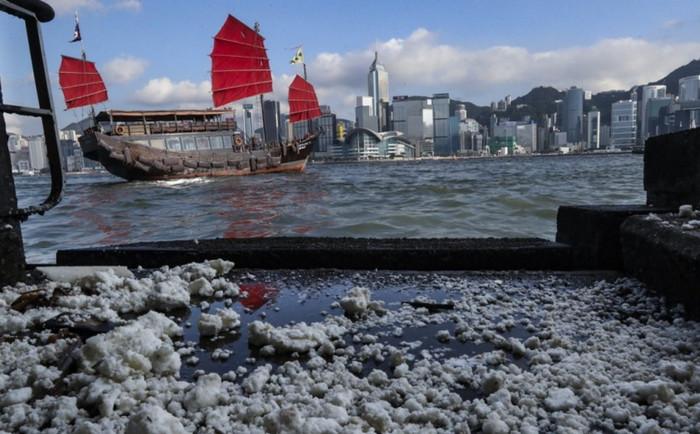 Пляжи в Гонконге закрыты из-за разлива пальмового масла
