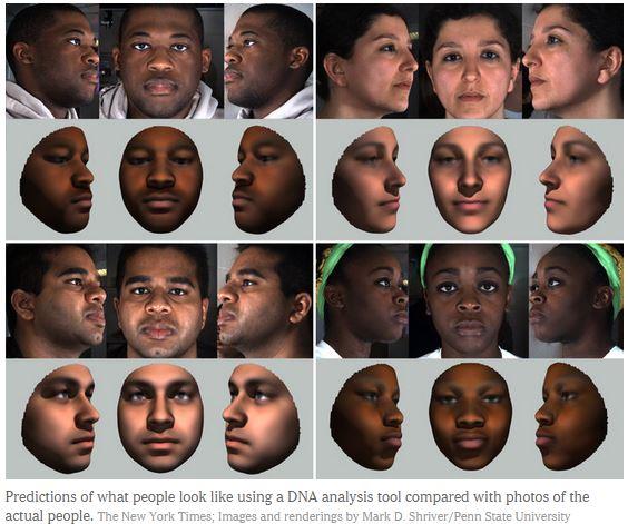 Полиция США научилась составлять примерный портрет человека на основе анализа ДНК