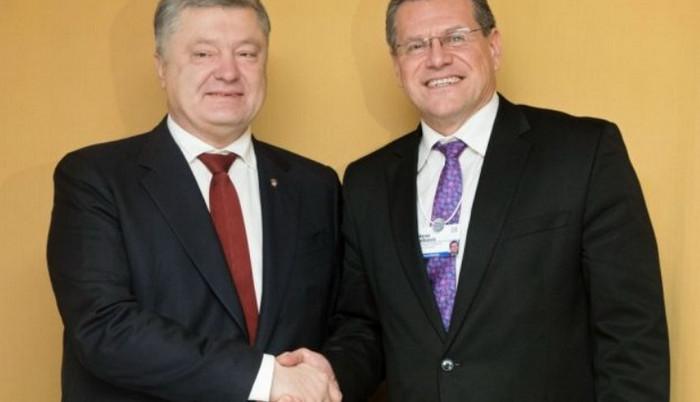 Порошенко и Марош Шефчович обсудили присоединение Украины к энергетическому рынку ЕС