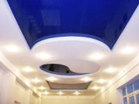Натяжной потолок – недорого и необычно