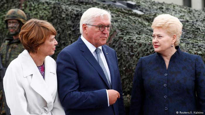 Президент ФРГ высоко оценил роль германской армии в стабилизации ситуации в Балтии